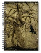 Gnarled And Twisted Tree With Crow Spiral Notebook