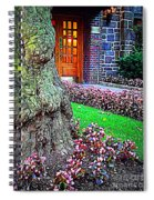 Gnarly Tree With Flowers Spiral Notebook