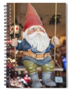 Gnome On A Swing 2 Spiral Notebook