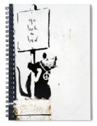 Go Back To Bed Protester Spiral Notebook