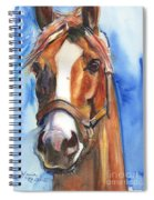Horse Painting Of California Chrome Go Chrome Spiral Notebook