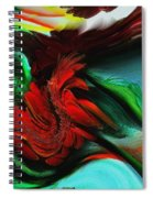 Go With The Flow Abstract Spiral Notebook