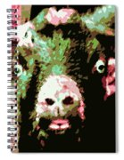 Goat Abstract Spiral Notebook