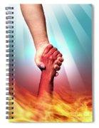 God And Devil Spiral Notebook