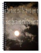 God Bless The Moon Spiral Notebook