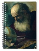 God The Father And Angel Spiral Notebook