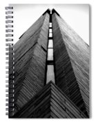 Goddard Stair Tower - Black And White Spiral Notebook