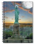 Goddess Of Freedom Spiral Notebook