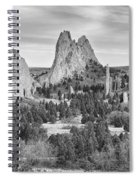 Gods Colorado Garden In Black And White    Spiral Notebook