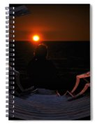 Going Down Oval Image Spiral Notebook