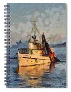 Going To Night Fishing Spiral Notebook