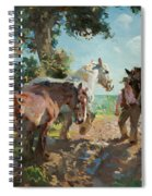 Going To Pasture Spiral Notebook
