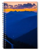 Going-to-the-sun Sunset Spiral Notebook