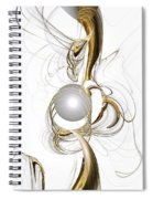 Gold And Pearl Spiral Notebook