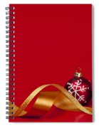 Gold And Red Christmas Decorations Spiral Notebook