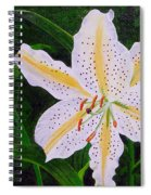 Gold Band Lily Spiral Notebook