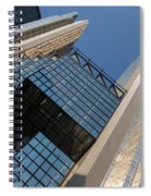 Gold Black And Blue Geometry - Royal Bank Plaza Spiral Notebook