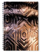 Gold Carving Spiral Notebook