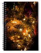 Gold Christmas Ornament Spiral Notebook