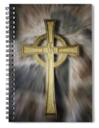 Gold Cross Spiral Notebook