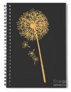 Gold Dandelion Spiral Notebook