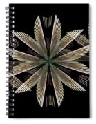 Gold Floral Abstract Spiral Notebook