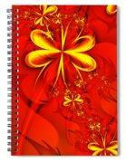 Gold Flowers Spiral Notebook