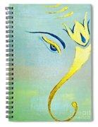 Gold Ganesh Spiral Notebook