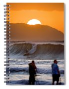 Gold Kaena Sunset Spiral Notebook
