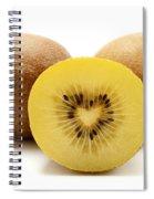 Gold Kiwifruit Spiral Notebook