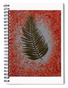 Gold Leaves On Orange Triptych Spiral Notebook