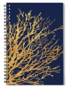 Gold Medley On Navy Spiral Notebook