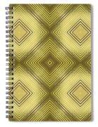 Gold Metallic 14 Spiral Notebook