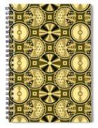 Gold Metallic 16 Spiral Notebook