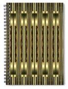 Gold Metallic 18 Spiral Notebook