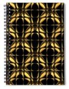 Gold Metallic 8 Spiral Notebook