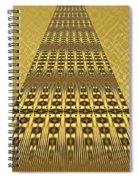 Gold Metallic 9 Spiral Notebook