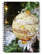 Gold Ornament Spiral Notebook