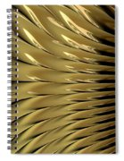 Gold Ridges Spiral Notebook