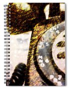 Gold Rotary Phone Spiral Notebook