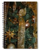 Gold Tones Tree Spiral Notebook