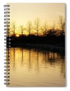 Golden And Peaceful - A Sunset On Lake Ontario In Toronto Canada Spiral Notebook