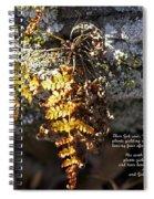 Golden Autumn Fern Spiral Notebook