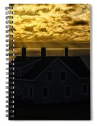 Golden Backlit West Quoddy Head Lighthouse Spiral Notebook
