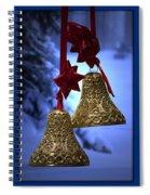 Golden Bells Blue Greeting Card Spiral Notebook