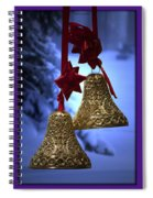 Golden Bells Purple Greeting Card Spiral Notebook