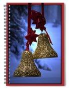 Golden Bells Red Greeting Card Spiral Notebook