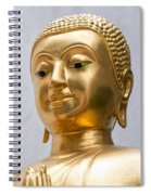 Golden Buddha Statue Spiral Notebook