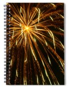 Golden Burst Spiral Notebook