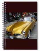 Golden Car Spiral Notebook